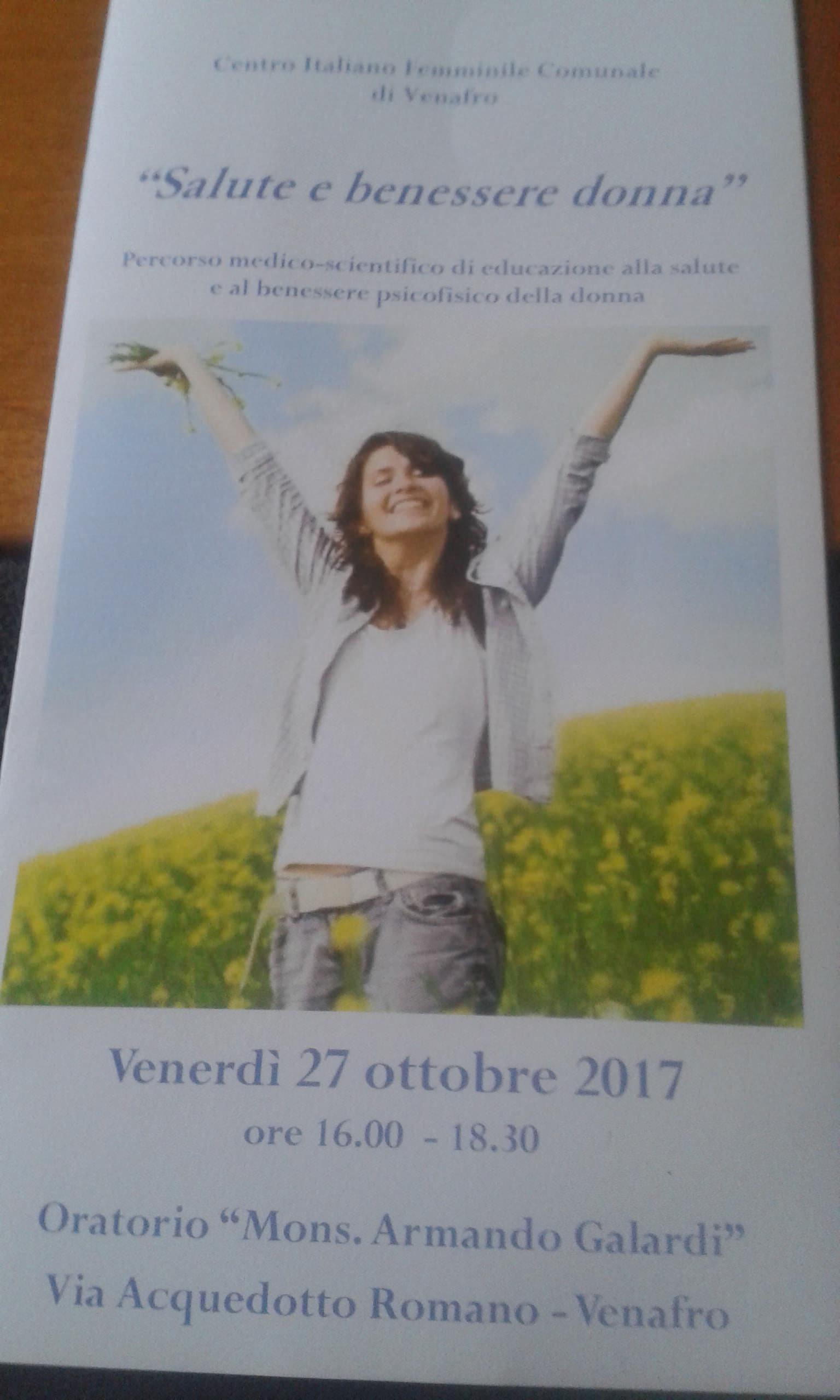 Alba Galardi Presidente Del Cif Venafro Sul Convegno Salute E Benessere Donna Molise Protagonista