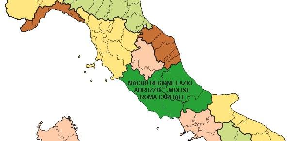 Cartina Abruzzo E Lazio.Cartina Macro Regione Abruzzo Lazio Molise Molise Protagonista